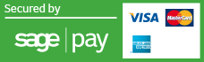 Secured by Sagepay - we support Visa and Mastercard.