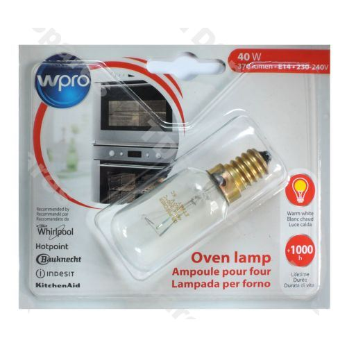 4 X Indesit Creda Zanussi Electrolux 40W 240V SES E14 Oven Cooker Bulb Lamp 300°