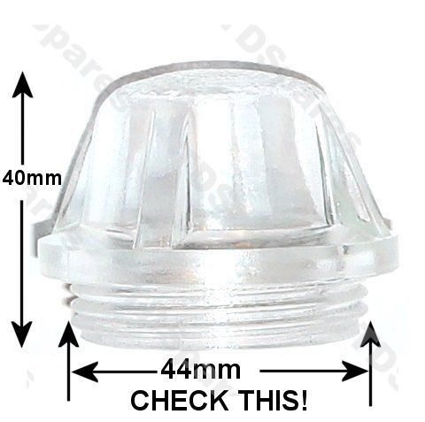 Oven Light Bulb Cover Glass Lens Fits Many Makes And