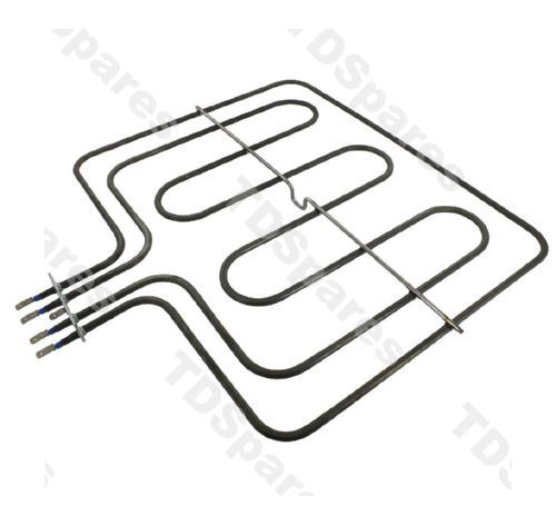 bush ae6bfs ae6bfb ae6bfw top grill heater element dual circuit for built in electric single fan