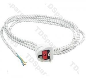 Iron Flex 2.5M 0.75mm 3 Core With 13 Amp UK Plug Top